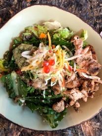 grilled chicken + salad + herb dressing