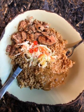 grilled chicken + rice + black bean vinaigrette